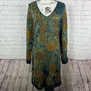 Peruvian Connection Floral Sweater dress